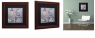 "Trademark Global Color Bakery 'Salon I' Matted Framed Art, 11"" x 11"""