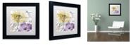 "Trademark Global Color Bakery 'Fleurs De France Ii' Matted Framed Art, 11"" x 11"""