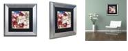 "Trademark Global Color Bakery 'Bluebird Christmas I' Matted Framed Art, 11"" x 11"""