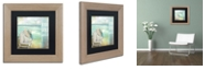 """Trademark Global Color Bakery 'By The Sea I' Matted Framed Art, 11"""" x 11"""""""