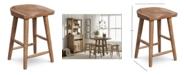 Furniture Brewing Collection Hops Saddle Seat Gathering Stool