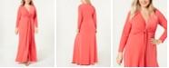 Calvin Klein Plus Size Twist-Front Maxi Gown