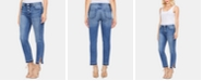 Vince Camuto Button-Fly High-Rise Jeans