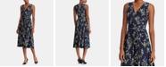 Lauren Ralph Lauren Petite Floral-Print Ruched Dress