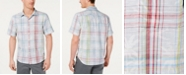 Tommy Bahama Men's Palms Away Classic Fit Floral-Plaid Camp Shirt