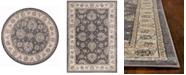 "Kas Avalon Kashan 5608 Grey/Ivory 7'10"" Round Area Rug"