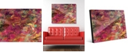 "Creative Gallery Cerise Impasto Abstract 16"" x 20"" Acrylic Wall Art Print"