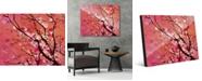 "Creative Gallery Madder Tinted Asian Tree Branch 20"" x 24"" Acrylic Wall Art Print"