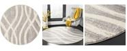 Safavieh Adirondack Gray and Cream 6' x 6' Round Area Rug