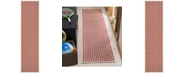 Safavieh Linden Red and Creme 2' x 8' Runner Area Rug