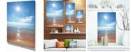 "Design Art Designart Serene Seascape With Bright Sun Modern Beach Canvas Art Print - 12"" X 20"""