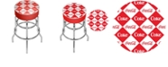 Trademark Global Checker Coca Cola Pub Stool
