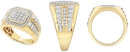 Macy's Men's Diamond Two-Tone Ring (1 ct. t.w.) in 10k Gold & White Gold