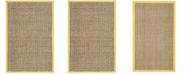 Safavieh Natural Fiber Natural and Gold 3' x 5' Sisal Weave Area Rug