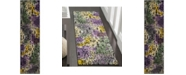 """Safavieh Watercolor Light Yellow and Green 2'2"""" x 8' Runner Area Rug"""
