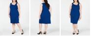 Betsey Johnson Plus Size Asymmetrical Sheath Dress