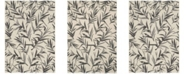 """Safavieh Courtyard Beige and Anthracite 6'7"""" x 9'6"""" Sisal Weave Area Rug"""