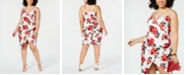 Almost Famous Trendy Plus Size  Printed Faux-Wrap Dress