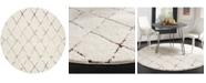 """Safavieh Santorini Cream and Multi 6'7"""" x 6'7"""" Round Area Rug"""