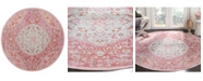 Safavieh Windsor Rose and Sea foam 6' x 6' Round Area Rug