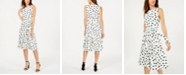 Jessica Howard Dot-Print Fit & Flare Dress