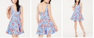 B Darlin Juniors' Floral-Print Fit & Flare Dress, Created for Macy's