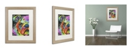 """Trademark Global Dean Russo 'What you lookin at' Matted Framed Art - 20"""" x 16"""" x 0.5"""""""