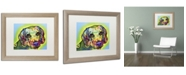 "Trademark Global Dean Russo 'Beagle' Matted Framed Art - 20"" x 16"" x 0.5"""