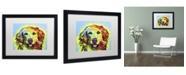 """Trademark Global Dean Russo 'Golden Retriever' Matted Framed Art - 16"""" x 20"""" x 0.5"""""""