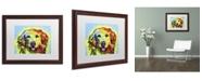 """Trademark Global Dean Russo 'Golden Retriever' Matted Framed Art - 20"""" x 16"""" x 0.5"""""""