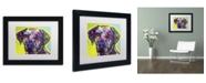 """Trademark Global Dean Russo 'Rhodesian Ridgeback' Matted Framed Art - 11"""" x 14"""" x 0.5"""""""