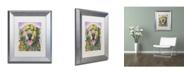 """Trademark Global Dean Russo 'Silence Is Golden' Matted Framed Art - 14"""" x 11"""" x 0.5"""""""