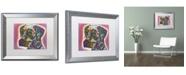 """Trademark Global Dean Russo 'Dalmatian' Matted Framed Art - 20"""" x 16"""" x 0.5"""""""