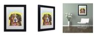 """Trademark Global Dean Russo 'Bernese Mountain Dog' Matted Framed Art - 11"""" x 14"""" x 0.5"""""""