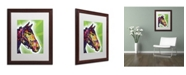 "Trademark Global Dean Russo 'Horse II' Matted Framed Art - 20"" x 16"" x 0.5"""