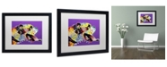 """Trademark Global Dean Russo 'Happy Boxer' Matted Framed Art - 16"""" x 20"""" x 0.5"""""""