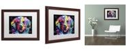 """Trademark Global Dean Russo 'Golden' Matted Framed Art - 20"""" x 16"""" x 0.5"""""""