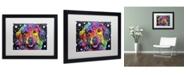 """Trademark Global Dean Russo 'Golden Retriever II' Matted Framed Art - 16"""" x 20"""" x 0.5"""""""