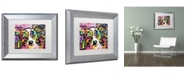 """Trademark Global Dean Russo 'Papillon 9149' Matted Framed Art - 14"""" x 11"""" x 0.5"""""""