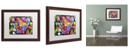 "Trademark Global Dean Russo 'The Brooklyn Pit Bull' Matted Framed Art - 20"" x 16"" x 0.5"""
