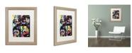 """Trademark Global Dean Russo 'Beatles' Matted Framed Art - 20"""" x 16"""" x 0.5"""""""