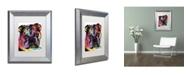 """Trademark Global Dean Russo 'Bulldog' Matted Framed Art - 14"""" x 11"""" x 0.5"""""""