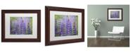 "Trademark Global Cora Niele 'Blue Lupine Flowers' Matted Framed Art - 14"" x 11"" x 0.5"""