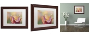 "Trademark Global Cora Niele 'Tulip Crispa' Matted Framed Art - 14"" x 11"" x 0.5"""