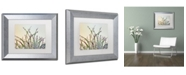 "Trademark Global Cora Niele 'Dewy Grass' Matted Framed Art - 14"" x 11"" x 0.5"""