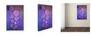 "Trademark Global Cora Niele 'Purple Stained Glass' Canvas Art - 32"" x 22"" x 2"""