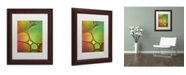 """Trademark Global Cora Niele 'Stained Glass II' Matted Framed Art - 14"""" x 11"""" x 0.5"""""""