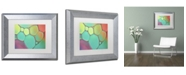 """Trademark Global Cora Niele 'Stained Glass III' Matted Framed Art - 14"""" x 11"""" x 0.5"""""""