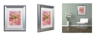 "Trademark Global Cora Niele 'Cerise Pink Poppy' Matted Framed Art - 14"" x 11"" x 0.5"""