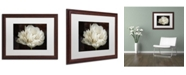 "Trademark Global Cora Niele 'Double White Tulip' Matted Framed Art - 20"" x 16"" x 0.5"""